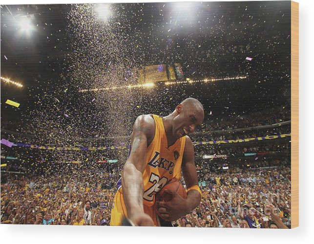 Playoffs Wood Print featuring the photograph Kobe Bryant by Nathaniel S. Butler
