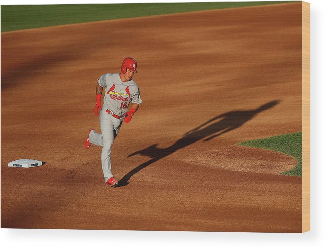 St. Louis Cardinals Wood Print featuring the photograph Kolten Wong by Doug Pensinger
