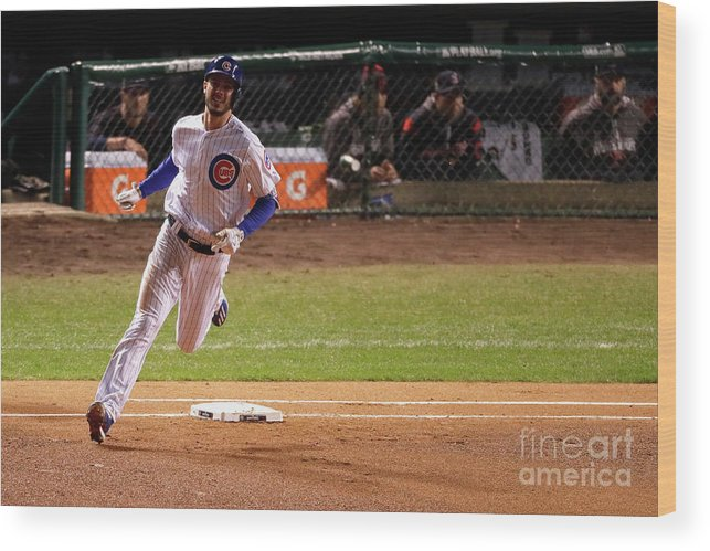 People Wood Print featuring the photograph Kris Bryant by Jamie Squire