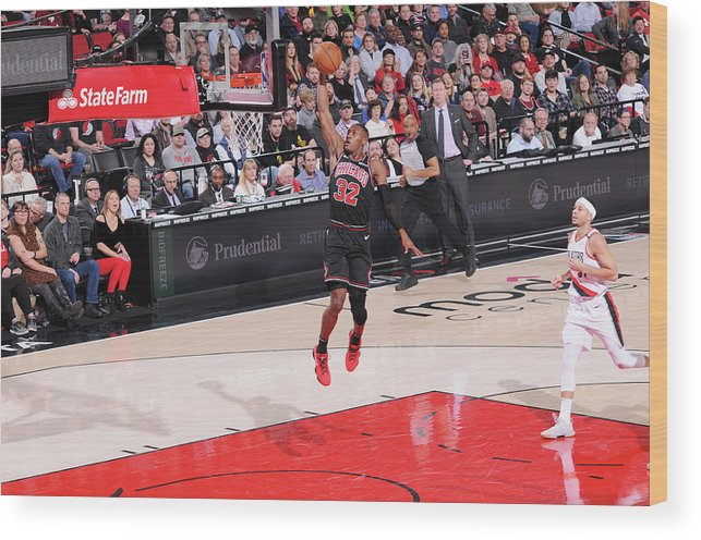 Chicago Bulls Wood Print featuring the photograph Kris Dunn by Sam Forencich