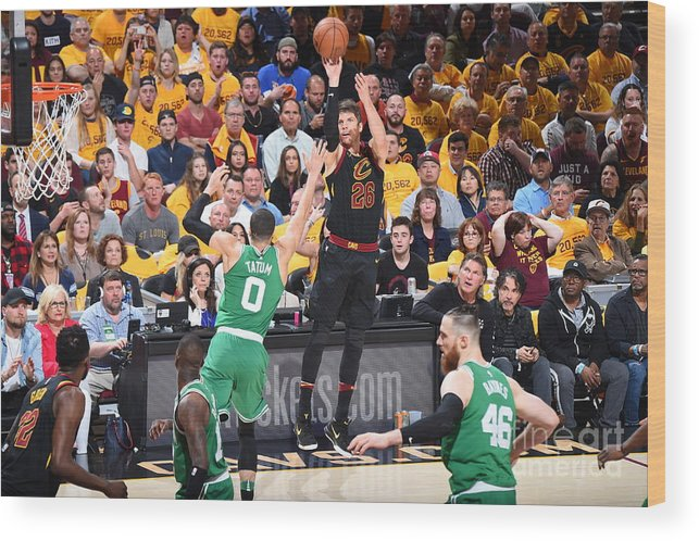 Playoffs Wood Print featuring the photograph Kyle Korver by Brian Babineau
