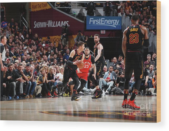 Playoffs Wood Print featuring the photograph Kyle Korver by Jeff Haynes