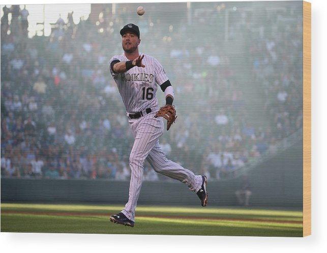 Second Inning Wood Print featuring the photograph Kyle Parker and Jon Gray by Doug Pensinger