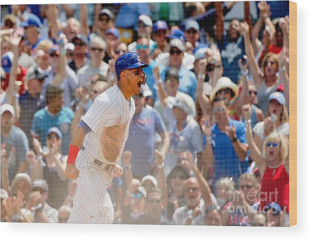 Second Inning Wood Print featuring the photograph Kyle Schwarber and Willson Contreras by Jon Durr