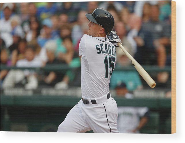 Second Inning Wood Print featuring the photograph Kyle Seager by Otto Greule Jr