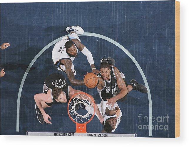 Playoffs Wood Print featuring the photograph Lamarcus Aldridge by Joe Murphy
