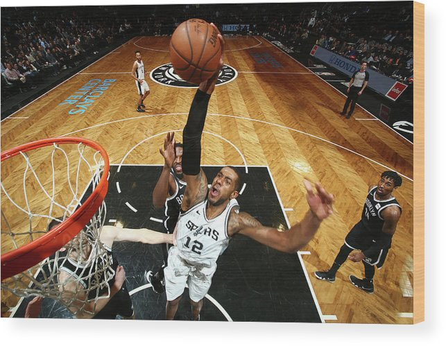 Nba Pro Basketball Wood Print featuring the photograph Lamarcus Aldridge by Nathaniel S. Butler