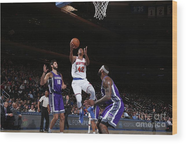 Nba Pro Basketball Wood Print featuring the photograph Lance Thomas by Nathaniel S. Butler