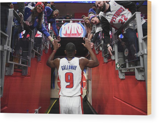 Nba Pro Basketball Wood Print featuring the photograph Langston Galloway by Chris Schwegler