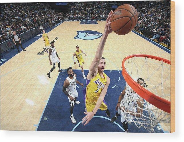 Nba Pro Basketball Wood Print featuring the photograph Larry Nance by Joe Murphy