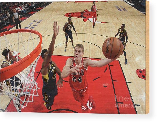 Chicago Bulls Wood Print featuring the photograph Lauri Markkanen by Gary Dineen