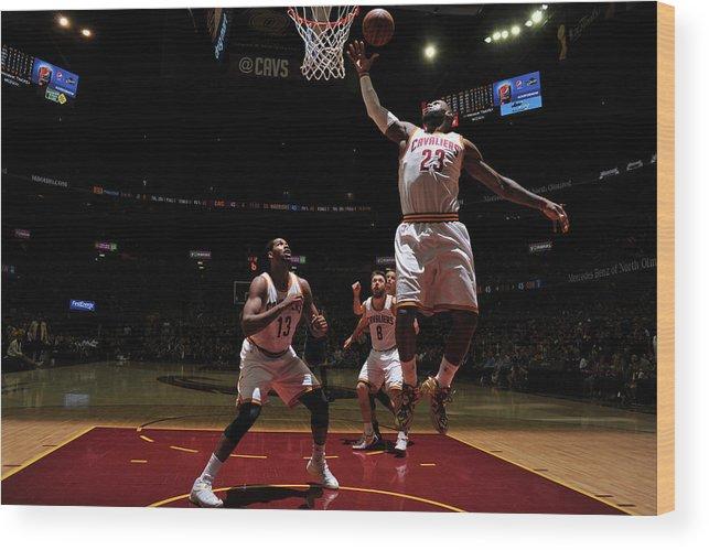 Playoffs Wood Print featuring the photograph Lebron James by Garrett Ellwood