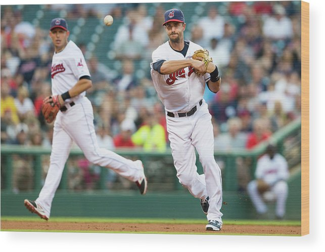 American League Baseball Wood Print featuring the photograph Lonnie Chisenhall by Jason Miller