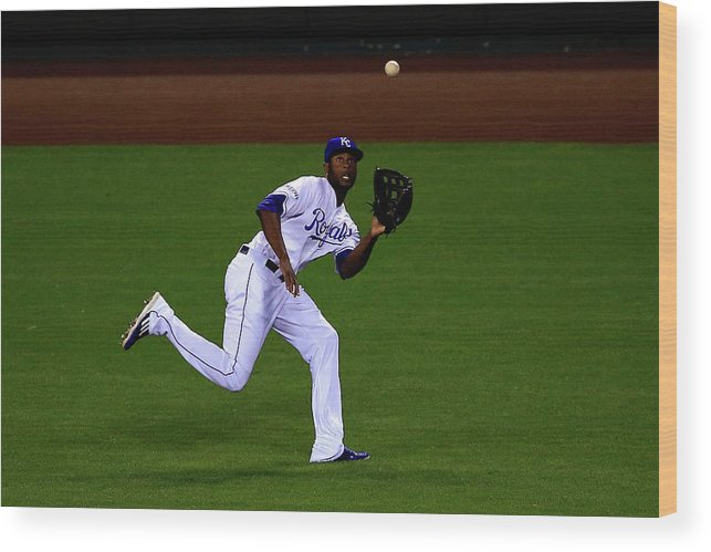 People Wood Print featuring the photograph Lorenzo Cain by Jamie Squire