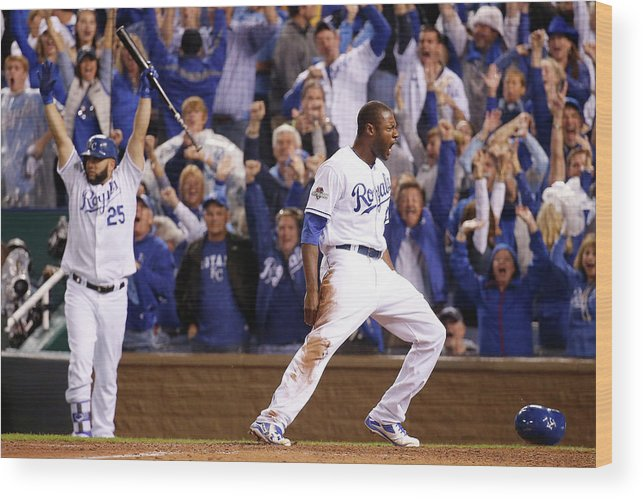 People Wood Print featuring the photograph Lorenzo Cain by Rob Carr