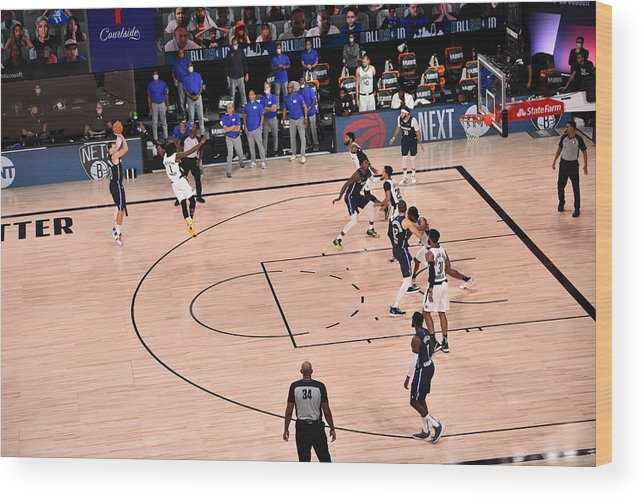 Playoffs Wood Print featuring the photograph Los Angeles Clippers v Dallas Mavericks - Game Four by David Dow