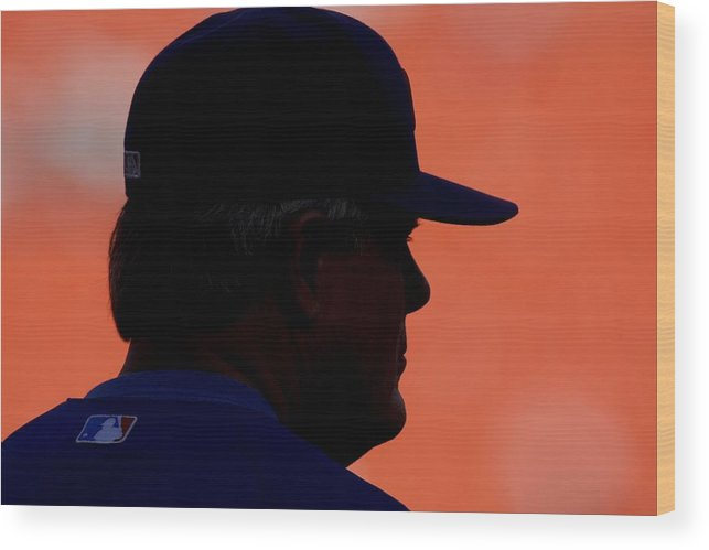 Hard Rock Stadium Wood Print featuring the photograph Lou Piniella by Ronald C. Modra/sports Imagery