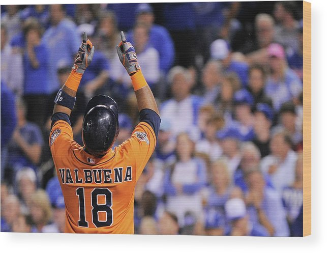Second Inning Wood Print featuring the photograph Luis Valbuena by Ed Zurga