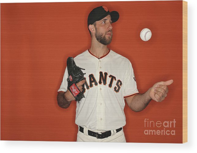 Media Day Wood Print featuring the photograph Madison Bumgarner by Patrick Smith
