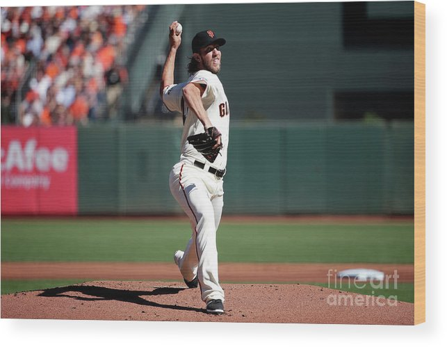 San Francisco Wood Print featuring the photograph Madison Bumgarner by Pool