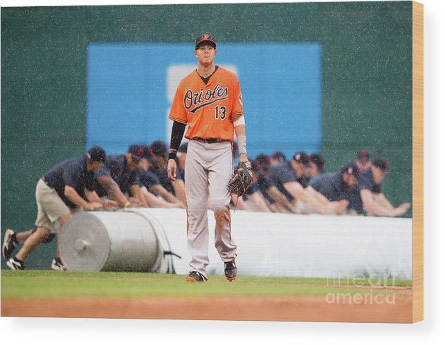 People Wood Print featuring the photograph Manny Machado by Jason Miller