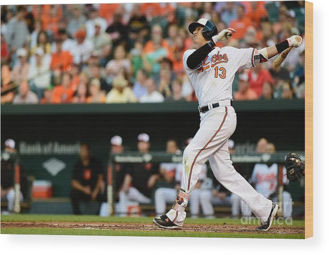 Second Inning Wood Print featuring the photograph Manny Machado by Patrick Mcdermott