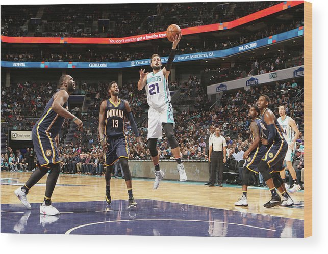 Nba Pro Basketball Wood Print featuring the photograph Marco Belinelli by Brock Williams-smith