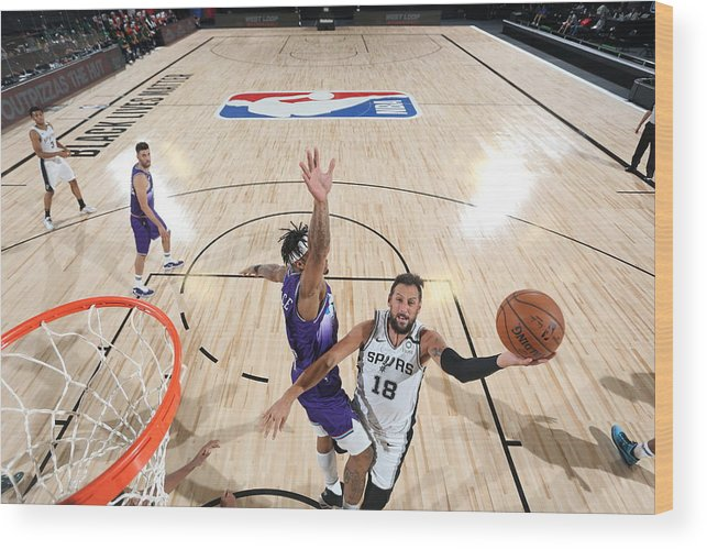 Nba Pro Basketball Wood Print featuring the photograph Marco Belinelli by David Dow