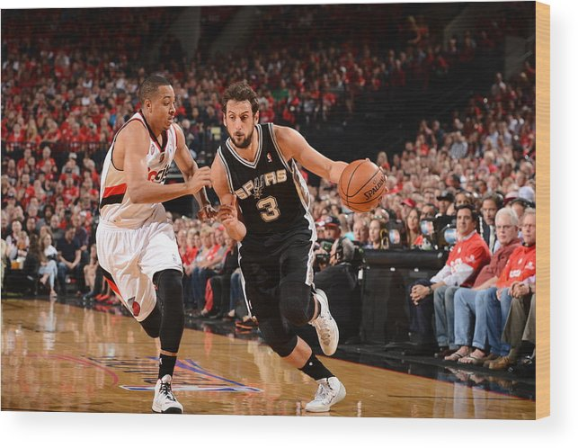 Playoffs Wood Print featuring the photograph Marco Belinelli by Garrett Ellwood