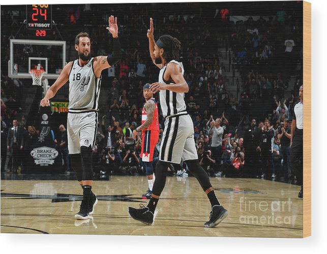 Nba Pro Basketball Wood Print featuring the photograph Marco Belinelli by Logan Riely