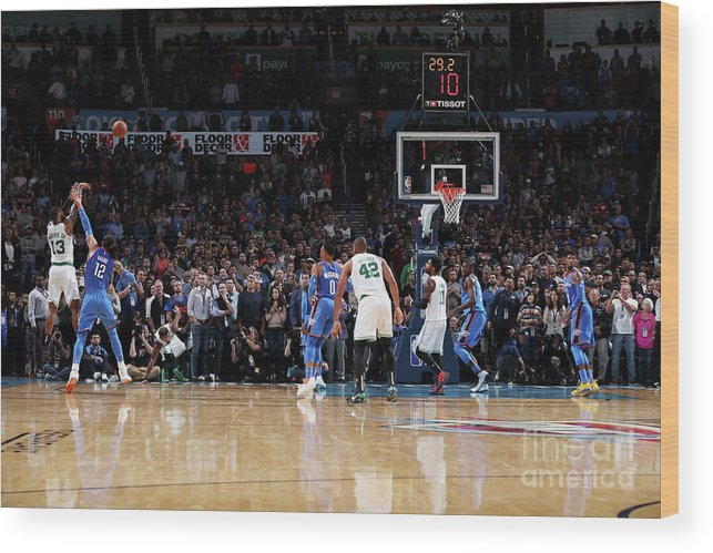Nba Pro Basketball Wood Print featuring the photograph Marcus Morris by Zach Beeker