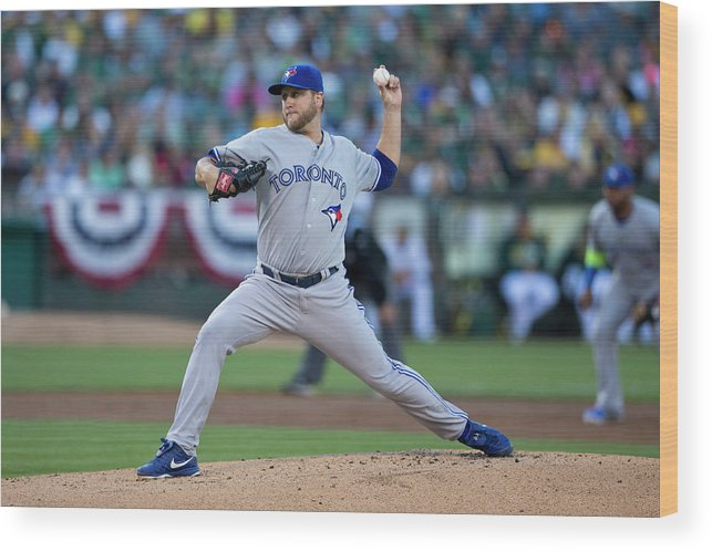 American League Baseball Wood Print featuring the photograph Mark Buehrle by Jason O. Watson