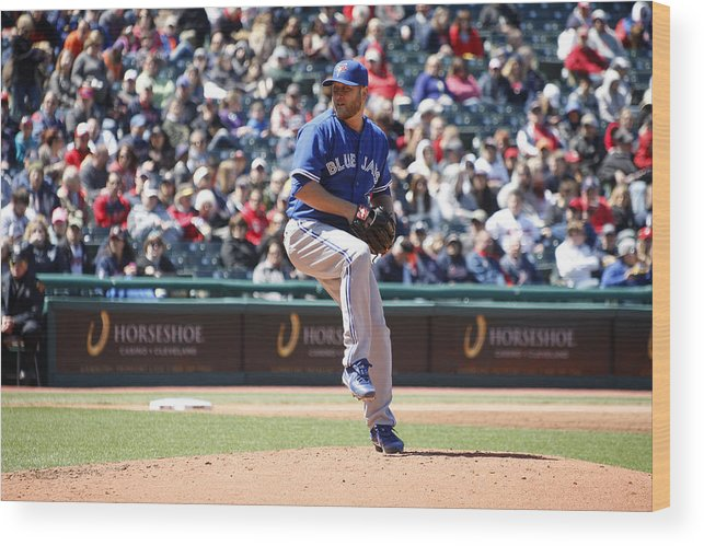 American League Baseball Wood Print featuring the photograph Mark Buehrle by John Grieshop