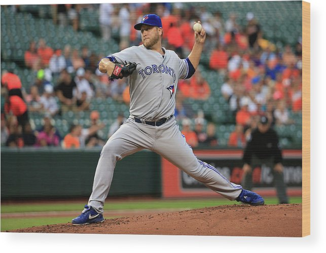 American League Baseball Wood Print featuring the photograph Mark Buehrle by Rob Carr