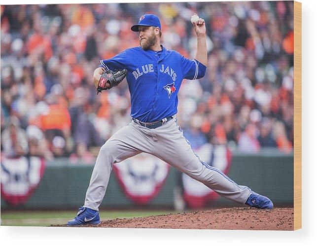 American League Baseball Wood Print featuring the photograph Mark Buehrle by Rob Tringali