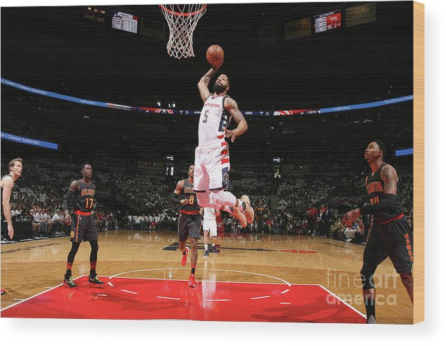 Playoffs Wood Print featuring the photograph Markieff Morris by Ned Dishman