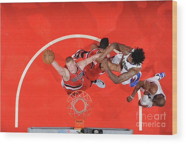 Nba Pro Basketball Wood Print featuring the photograph Mason Plumlee by Andrew D. Bernstein