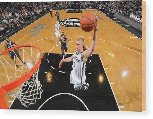 Nba Pro Basketball Wood Print featuring the photograph Mason Plumlee by Jesse D. Garrabrant