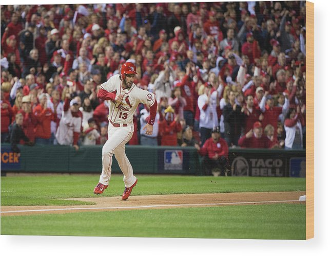 St. Louis Cardinals Wood Print featuring the photograph Matt Carpenter and Matt Holliday by Ron Vesely