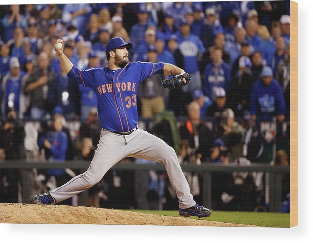 Matt Harvey Wood Print featuring the photograph Matt Harvey by Sean M. Haffey