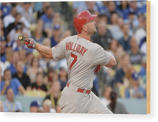 St. Louis Cardinals Wood Print featuring the photograph Matt Holliday by Harry How