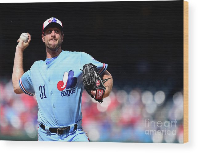 Three Quarter Length Wood Print featuring the photograph Max Scherzer by Patrick Mcdermott