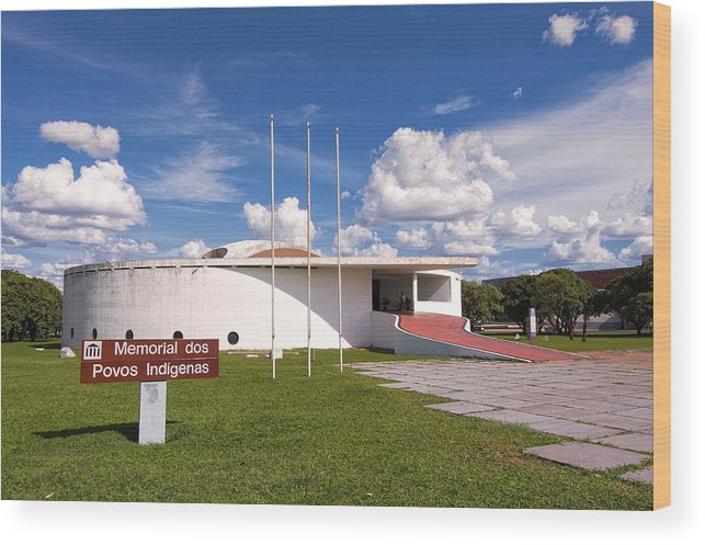 Lifestyles Wood Print featuring the photograph Memorial dos Povos Indígenas - Indigenous Peoples by Francisco Andrade