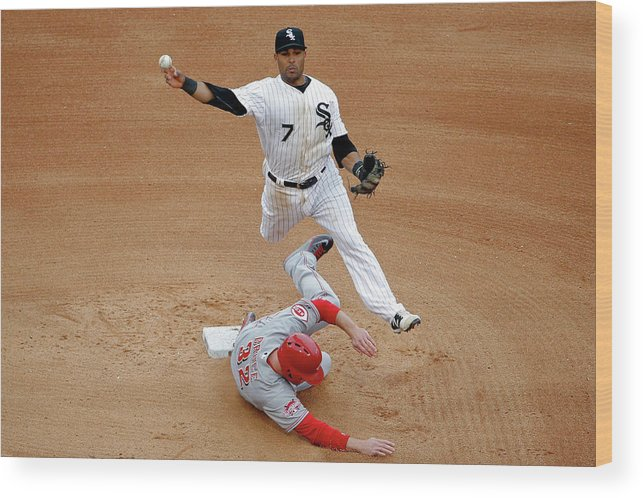 People Wood Print featuring the photograph Micah Johnson and Jay Bruce by Jon Durr