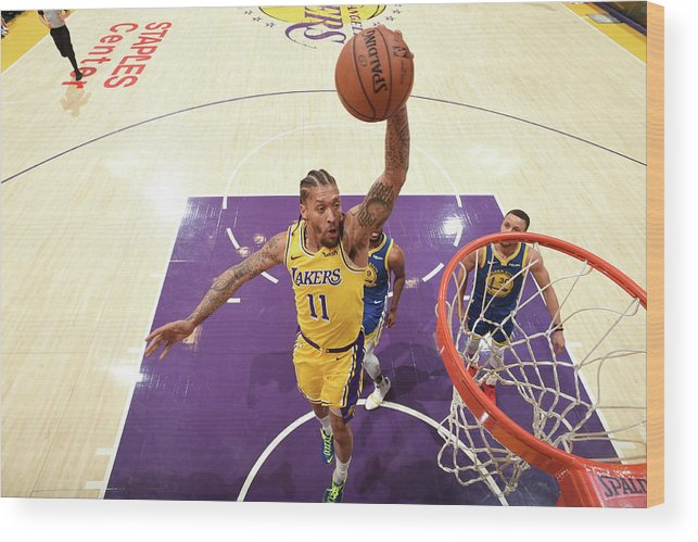 Michael Beasley Wood Print featuring the photograph Michael Beasley by Andrew D. Bernstein