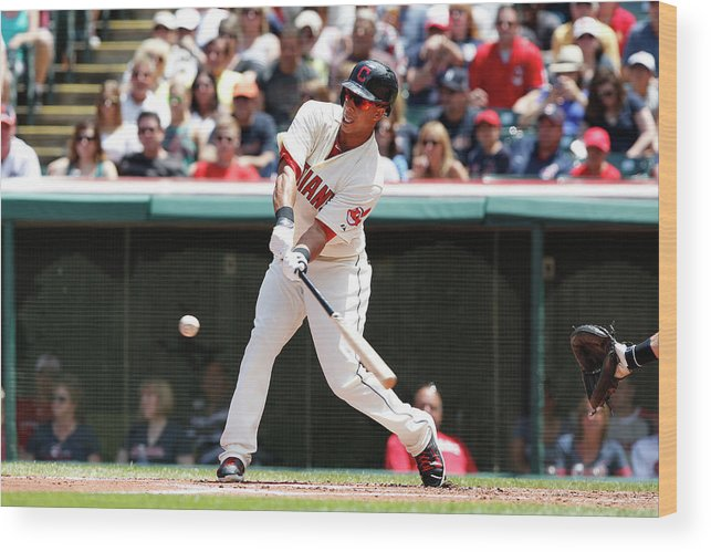 American League Baseball Wood Print featuring the photograph Michael Brantley by David Maxwell