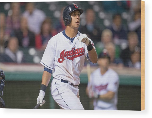 American League Baseball Wood Print featuring the photograph Michael Brantley by Jason Miller