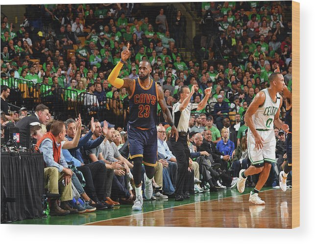 Playoffs Wood Print featuring the photograph Michael Jordan and Lebron James by Jesse D. Garrabrant