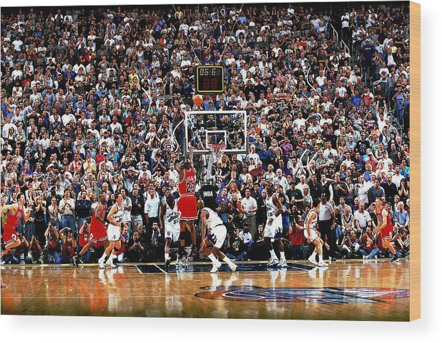 Chicago Bulls Wood Print featuring the photograph Michael Jordan by Fernando Medina