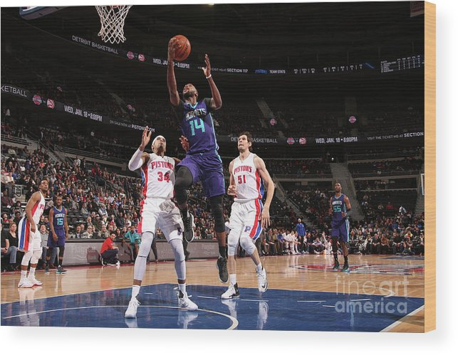 Nba Pro Basketball Wood Print featuring the photograph Michael Kidd-gilchrist by Brian Sevald